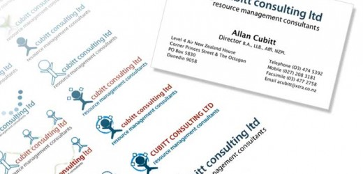 Cubitt consulting logo development and business card
