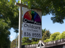 childcare logo and signage