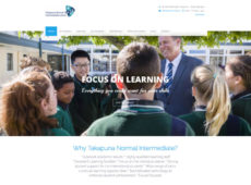 TNIS- Takapuna Normal Intermediate School Home page web design