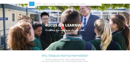 TNIS- Takapuna Normal Intermediate School Home page web design