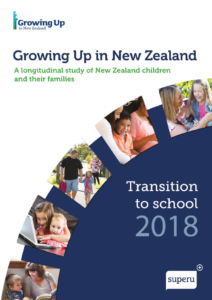 Annual report 2018 designed for Growing Up in NZ longitudinal study